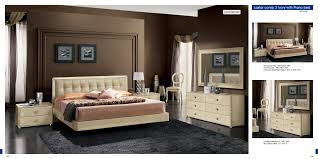 Star Bedroom Furniture La Star Beige Comp 3 W Plano Bed Bedroom Modern Bedrooms