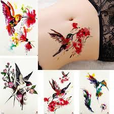 вдохновленный коллекция акварельных тату наклейки для женщин