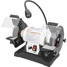 Grizzly T24463 6 Bench Grinder With Work Light Bench Grinders Grizzly T24463 6 Inch Bench Grinder With Work