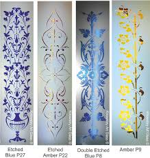 etched glass for colour inlaid sizes up to 305mmx1120mm if your sizes exceed this there may be extra costs