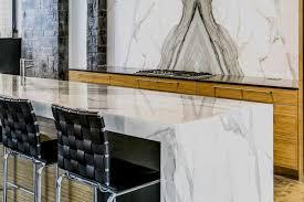 mitered edge marble waterfall edge