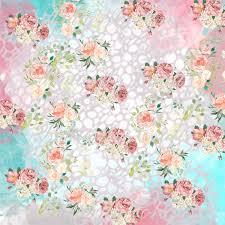 Paper Flower Designs Pastel Flowers Digital Paper Flower Digital Paper