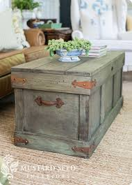 trunk table furniture. Pottery Barn Knock Off Trunk Coffee Table | Follow The Video Tutorial To  Learn How Distress Furniture With Milk Paint! Trunk Table