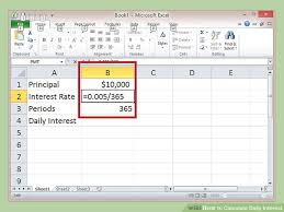 daily interest calculator excel how to calculate daily interest with cheat sheet wikihow