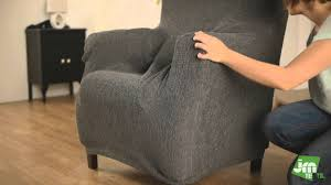 how to put a wing chair cover easily