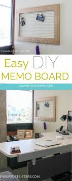 Cute Memo Boards Mesmerizing Simple DIY Memo Board For The Office Pinterest Diy Memo Board