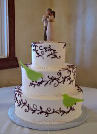 Simple And Elegant Ivory Buttercream Wedding Cake With Bro Flickr