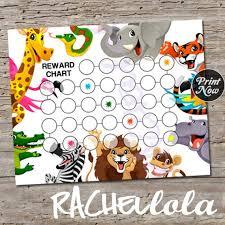 Zoo Animal Reward Chart For Kids Printable Instant Digital