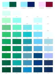 Turquoise Paint Color Chart Teal Color Chart Jamesdelles Com