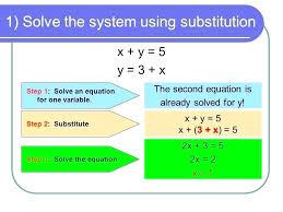 math algebra calculator solving system of equation calculator math 1 solve the system using substitution x y