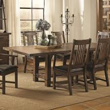 coaster dining room chairs coaster padima rustic rough sawn dining table with extension leaf