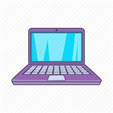 cartoon puter laptop modern notebook screen sign icon