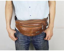 geniune leather belt bag men retro multifunction waist bag waterproof pack for man travel mobile phone pouch chest pack swimming bags pink pack