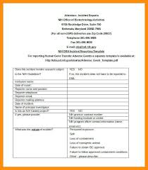Generic Incident Report Template And Free Incident Report Form