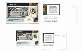 Postcard Template For Word Real Estate Postcard Template Awesome 61 New Real Estate Agent