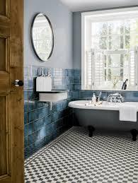 Nan Rosenblatt Interior Design Catania 1860 Blue Glazed Tile Topps Tiles Bathroom