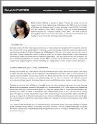 ... Shining Design Resume Bio Example 1 How To Write A