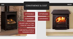 convenience cost for wood burners gas stoves