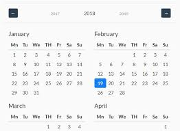 The Year Calendar Customizable Year Calendar Plugin For Bootstrap 4 Free Jquery Plugins