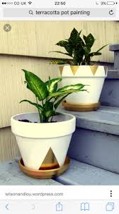White and Gold Pots
