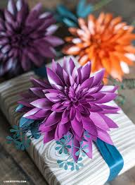 Free Paper Flower Templates Printable Make Metallic Paper Dahlias Seeded Eucalyptus For Fall Lia Griffith