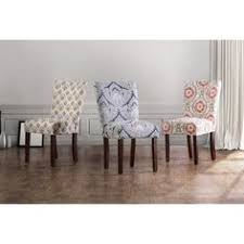 for furniture of america bessia modern patterned accent chair set of 2 kitchen chairsdining room