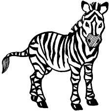 zebra clipart for kids. Plain Kids Zebra Clipart Coloring Page Free Pages Png Stock On Clipart For Kids T