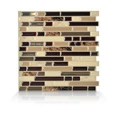 smart tiles bellagio keystone 10 06 in w x 10 in h l and stick