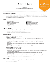 Software Developer Resume Samples Best Software Engineer Resume Example Livecareer