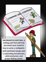 Compare and Contrast  Writing and Sentence Frames  Pinterest