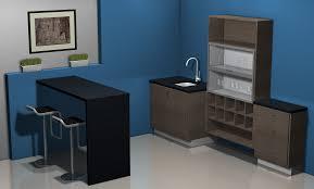 Kitchen Design Ideas A Bar Area With IKEA Cabinets - Home liquor bar designs