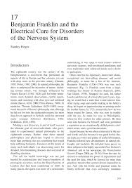 benjamin franklin and the electrical cure for disorders of the    inside