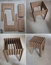 diy cardboard furniture. our little cardboard stool by arquimana on etsy diy furniture