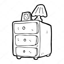 Armadietti per dpi : Comodino armadietto dei cartoni animati u2014 vettoriali stock