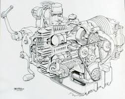 knucklebuster  moto art pics sectioned motorcycle diagrams