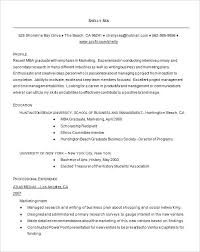 Mba Resume Template Awesome Resume Template Throughout Sample Insead Mba Cv Giancarlosopo