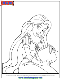 Small Picture Pretty Rapunzel Coloring Page H M Coloring Pages