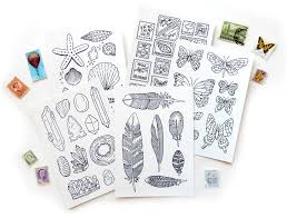 coloring postcards. Unique Postcards Coloring Postcards Collections Set In S