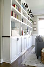 DIY built ins with kitchen cabinets