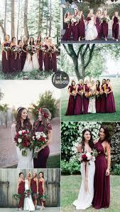 Winter Wedding Colors Bridesmaids Dresses