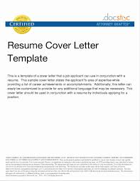 Sample Cover Letter For Resume In Word Format New Sample Cover