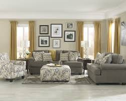 Patterned Chairs Living Room Cute Living Room With Dark Lines Couch Combined Grey Night Stand