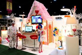 pacific coast contract lighting s katy perry inspired space included a candy land esque house