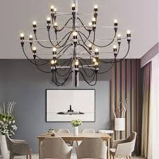 wish prodotto caldo gino sarfatti designed 2097 chandelier 30 bulbs lights chandelier living room pendant light no bulb