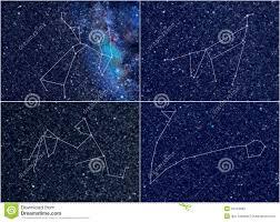 водолей Pisces козерога стрелца созвездий зодиака иллюстрация штока