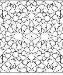 Islamic Geometric Patterns To Color Coloring Page For Kids Kids