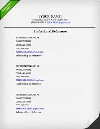 References On Resume Template