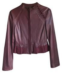 bcbgmaxazria purple leather jacket size xs jackets item 12003709 kndxkhq