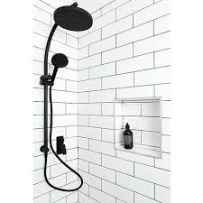 matte black shower head and hand unit tap mixer white canada