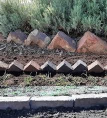 how to make a brick garden border
